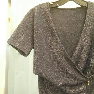 Chicwish Wrap Sparkle Me Shine Top